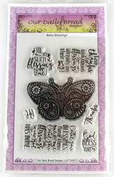 Boho Blessings Clear Cling Stamp Collection Our Daily Bread