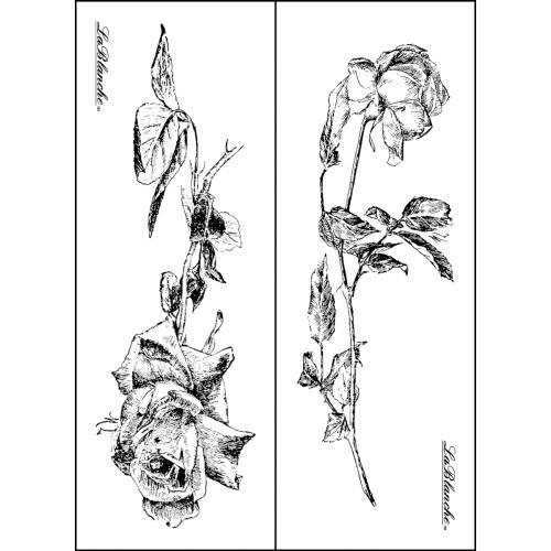 Roses Collection Silicone Mounted Rubber Stamp Set LaBlanche