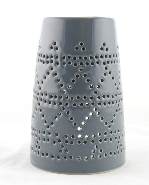 Gray Ceramic Tower Oil Warmer Earthbound Trading