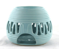 Blue Ceramic Round Oil Warmer Earthbound Trading