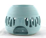 Blue Ceramic Round Oil Warmer Earthbound Trading
