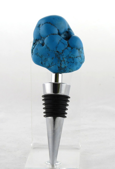 Turquentine Stone Metal Bottle Stopper Earthbound Trading