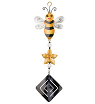 Bumble Bee Twirly Hanging Garden Spinner
