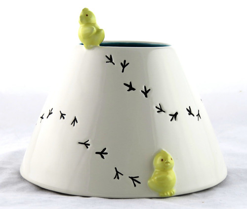 Easter Chicks Painted Ceramic Jar Shade Yankee Candle