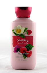 Raspberry Sweet Mint Body Lotion Bath and Body Works 8oz