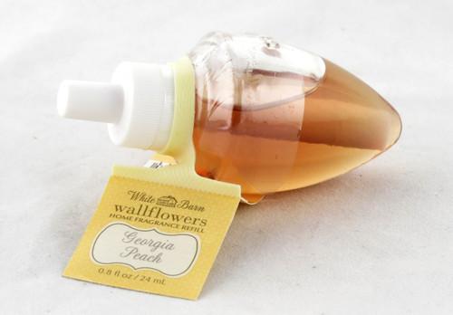 Georgia Peach Wallflower Fragrance Bulb Refill Bath and Body Works 0.8oz