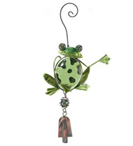 Frog Glass Metal Ornament Hanging Bell