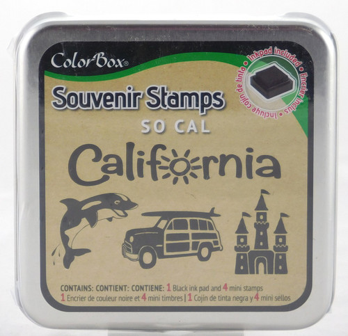 Southern California Foam Mounted Rubber Stamp & Ink Pad Collection Colorbox