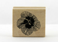 Hibiscus Flower Wood Mounted Rubber Stamp Martha Stewart