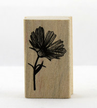 Daisy Flower Wood Mounted Rubber Stamp Martha Stewart