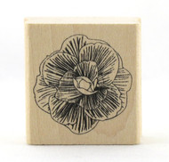 Dahlia Flower Wood Mounted Rubber Stamp Martha Stewart