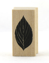 Leaf Wood Mounted Rubber Stamp Martha Stewart