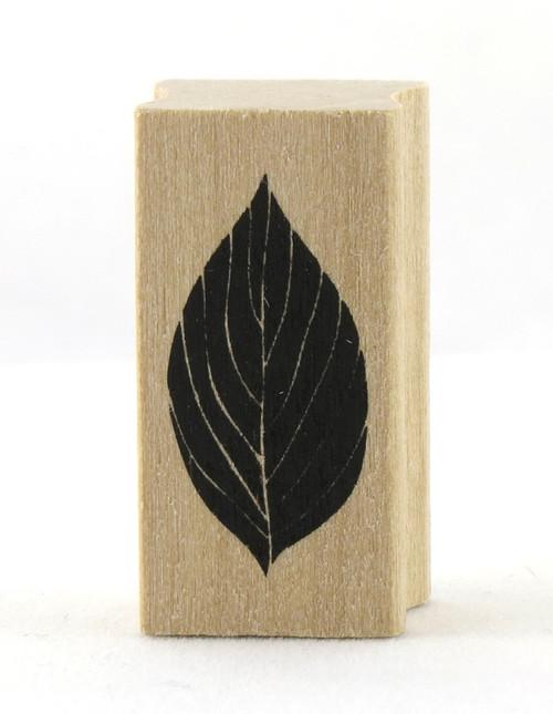 Leaf Wood Mounted Rubber Stamp Martha Stewart