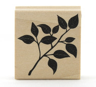 Leafy Branch Wood Mounted Rubber Stamp Martha Stewart