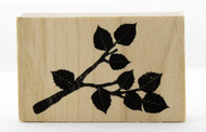 Rose Branch Wood Mounted Rubber Stamp Martha Stewart