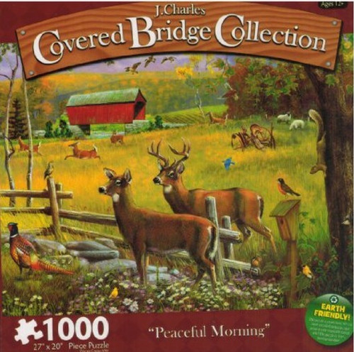 Peaceful Morning 1000 Piece J. Charles Covered Bridge Collection