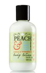 Peach Honey Almond Body Lotion Travel Size Bath and Body Works 3.4oz