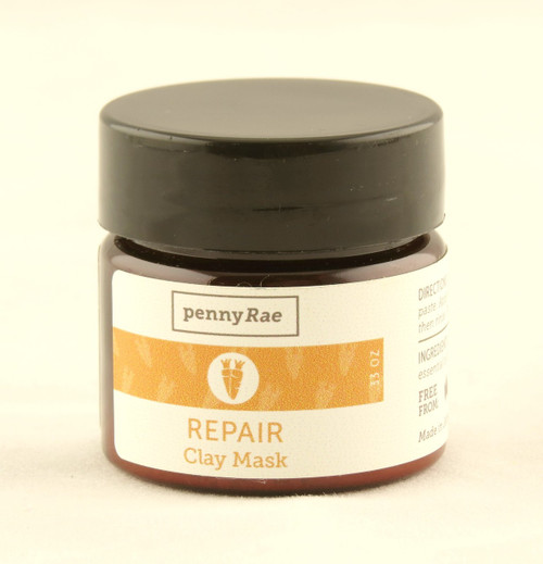 Repair Carrot Calendula French Clay Face Mask MINI Travel Size pennyRae
