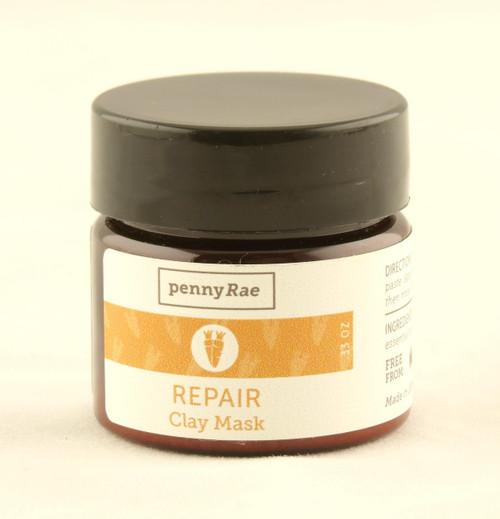 Repair Carrot Calendula French Clay Face Mask MINI Travel Size pennyRae