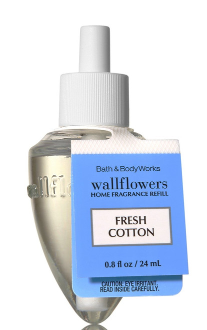 Fresh Cotton Wallflower Fragrance Bulb Refill Bath and Body Works 0.8oz