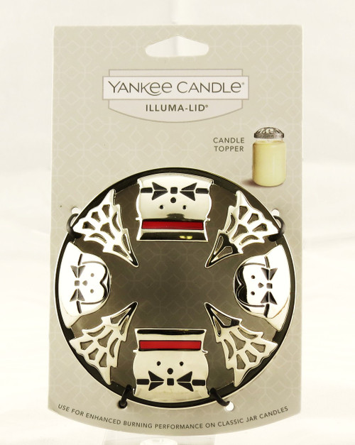 Jackson Frost Snowman Chrome Illuma Lid Jar Topper Yankee Candle