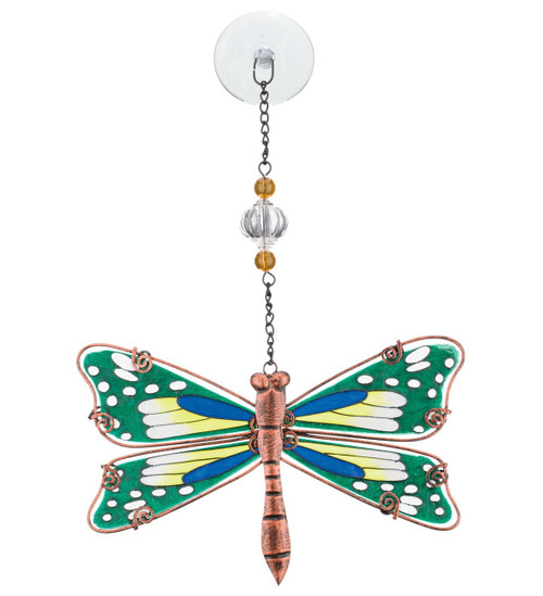 Dragonfly Hand Painted Glass Sun Catcher