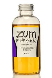 Frankincense Myrrh Zum Whiff Stick Diffuser Oil Refill Indigo Wild 4oz