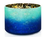 Seaside Silhouette Crackle Glass Barrel Jar Shade Yankee Candle