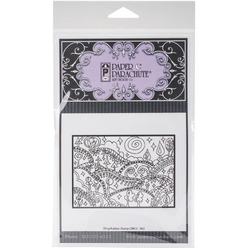 Design Hills Rubber Cling Stamp Paper Parachute