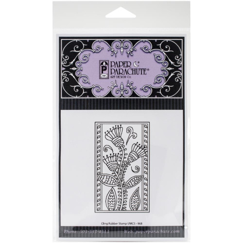 Blossom Flowers Cling Rubber Stamp Paper Parachute