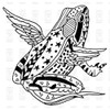 Winged Frog Cling Rubber Stamp Paper Parachute