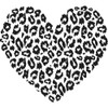 Leopard Print Heart Cling Rubber Stamp Gourmet