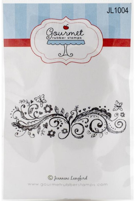 Summer Scroll Cling Rubber Stamp Gourmet