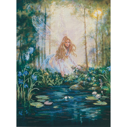 The Wishing Pool Embellished Cross Stitch Kit Candamar