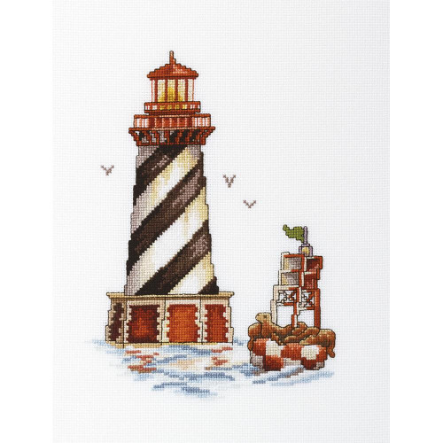 Seal Bay Lighthouse Counted Cross Stitch Kit RTO