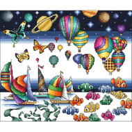 The Colors of Life Counted Cross Stitch Kit Vickery Collection
