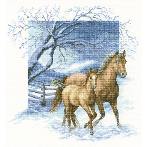 Beyond The Village Fence Counted Cross Stitch Kit RTO