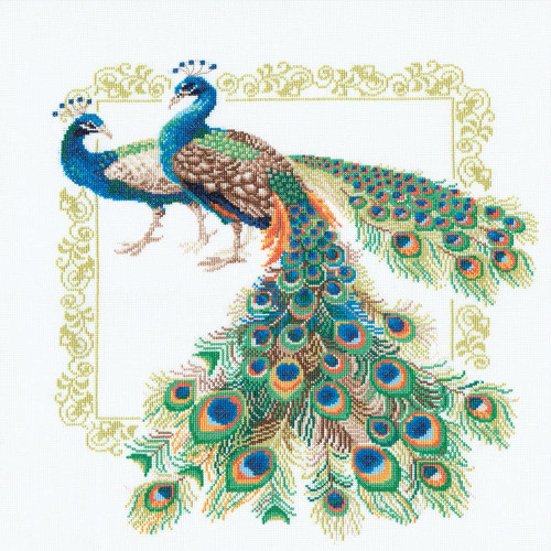 Peacocks Counted Cross Stitch Kit Riolis