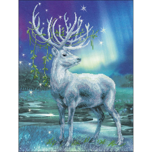 White Stag Counted Cross Stitch Kit Riolis