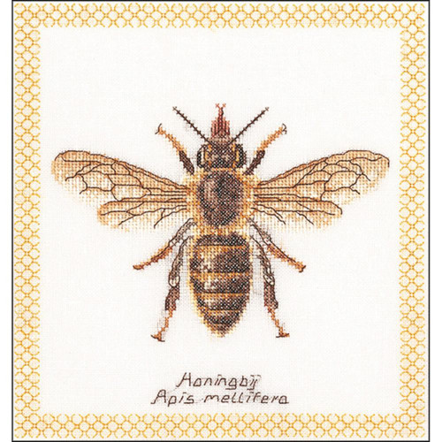 Honey Bee on White Counted Cross Stitch Kit Thea Gouverneur