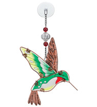 Hummingbird Hand Painted Glass Sun Catcher