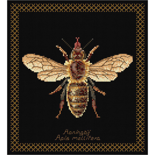 Honey Bee on Black Counted Cross Stitch Kit Thea Gouverneur