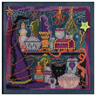 Wanda's Witchery Buttons & Beads Autumn Series Counted Cross Stitch Kit Mill Hill