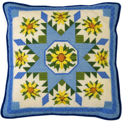 Sunflower Sampler Needlepoint Kit Candamar