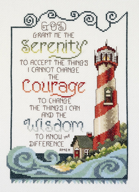 Serenity Lighthouse Counted Cross Stitch Kit Janlynn