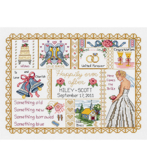 Wedding Collage Counted Cross Stitch Kit Janlynn
