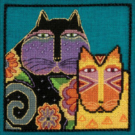 Feline Friends Counted Cross Stitch Kit Laurel Burch Mill Hill