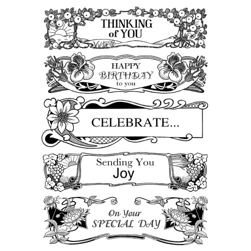 Warm Sayings Unmounted Rubber Cling Stamp Collection Crafty Individuals