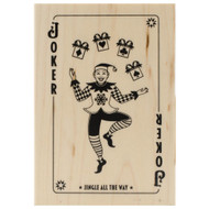 Elf Joker Wood Mounted Rubber Stamp Inkadinkado