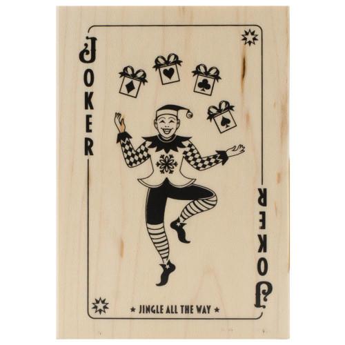 Elf Joker Wood Mounted Rubber Stamp Inkadinkado